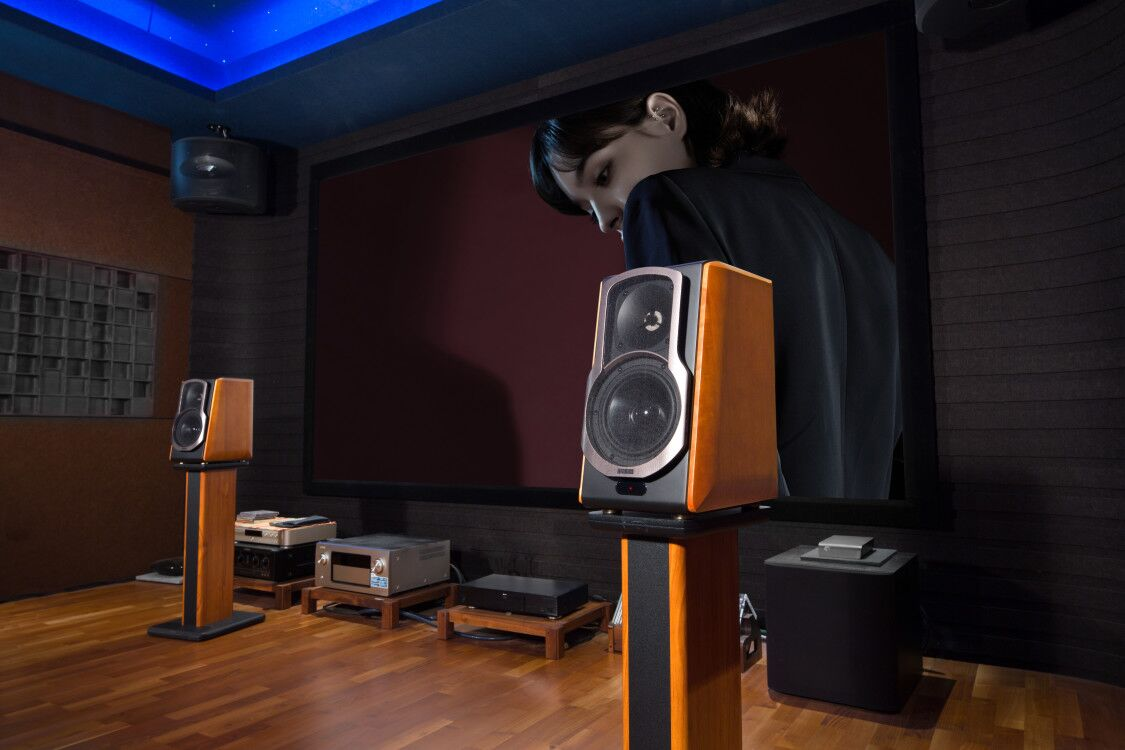 Edifier S2000Pro Speaker Stands Lifestyle Shot 2